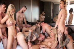 Aubrey Kate + 8: TS Orgy With DAP!